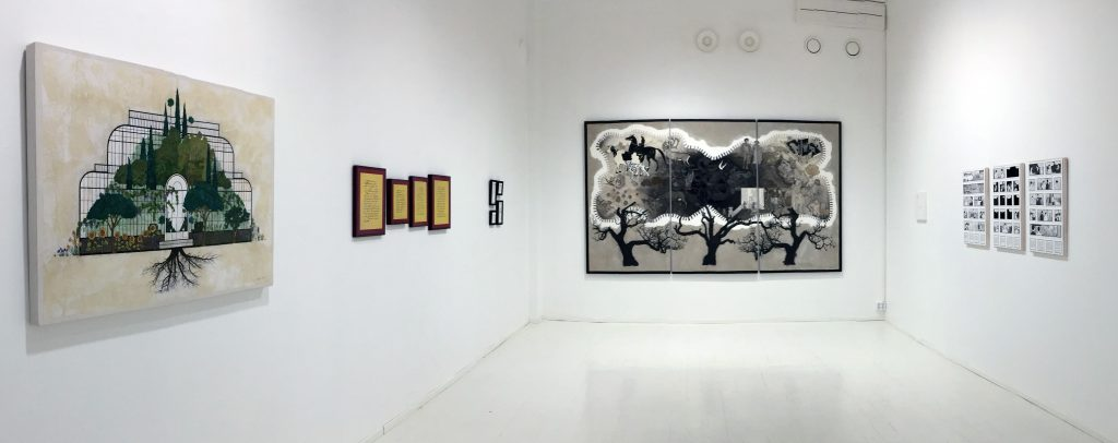 Exhibition view from the Gallery Halmetoja